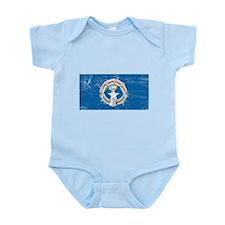 Northern Marianas Flag Infant Bodysuit