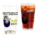 Abstinence: 99.99% Effective Pint Glass