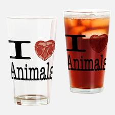 I Heart Animals Pint Glass