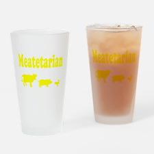 Meatetarian Pint Glass
