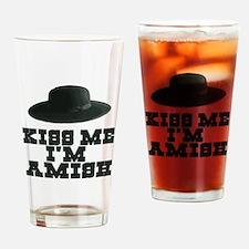 Kiss Me I'm Amish Pint Glass