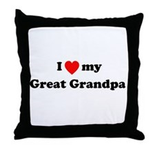 I Love My T Shirts: Throw Pillow