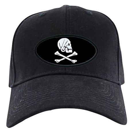 Henry Every's Pirate Flag Black Cap