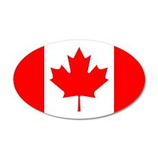 Canadian Flag 38.5 x 24.5 Oval Wall Peel