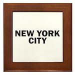 NEW YORK CITY V Framed Tile
