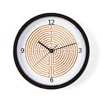 SACRED SYMBOLS:  Labrynth Wall Clock
