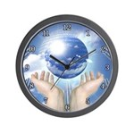"""PLANETARY SERIES:  """"In Her Hands"""" Wall Clock"""