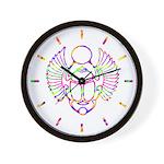 SACRED SYMBOLS:  Scarab Wall Clock