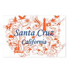 Cute Santa cruz Postcards (Package of 8)