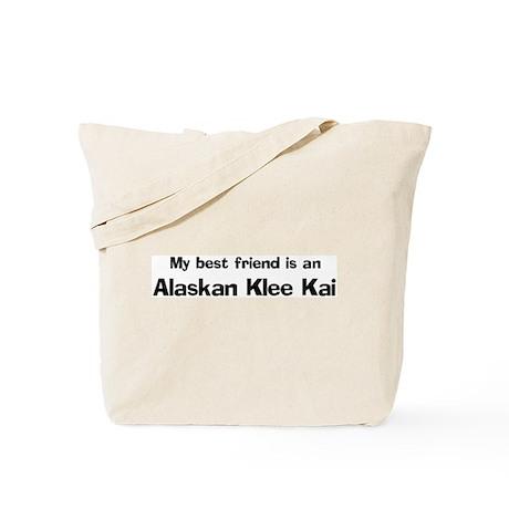 Best friend: Alaskan Klee Kai Tote Bag