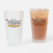 Golfers Putter Around Drinking Glass