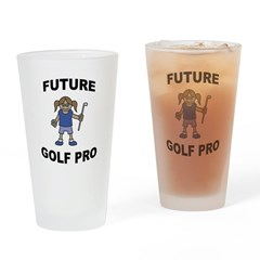 Future Golf Pro (Girl) Pint Glass
