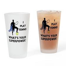 Tennis Superpower Drinking Glass