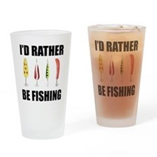 I'd Rather Be Fishing Pint Glass