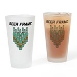 Beer Frame Bowling Pint Glass