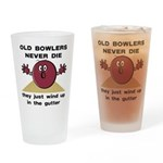 Old Bowlers Never Die Pint Glass