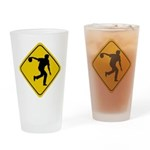 Bowling Crossing Sign Pint Glass