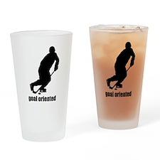 Goal Oriented Hockey Drinking Glass