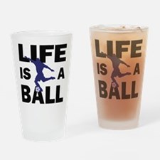 Life Is A Ball Soccer Pint Glass