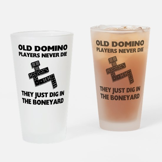 Domino Players Never Die Pint Glass
