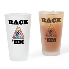 Pool Rack 'Em Drinking Glass