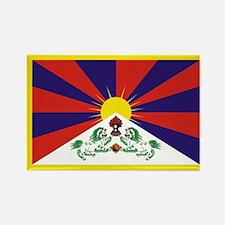 Tibetan Snow Lion Flag Rectangle Magnet