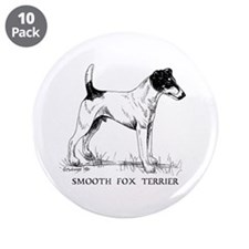 "Smooth Fox Terrier 3.5"" Button (10 pack)"