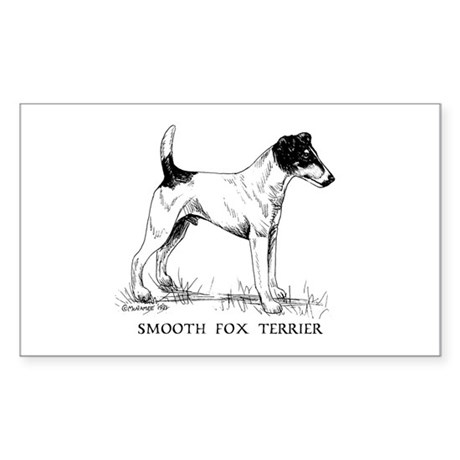 Smooth Fox Terrier Sticker (Rectangle)