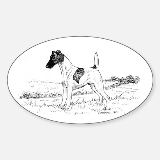 Smooth Fox Terrier Sticker (Oval)