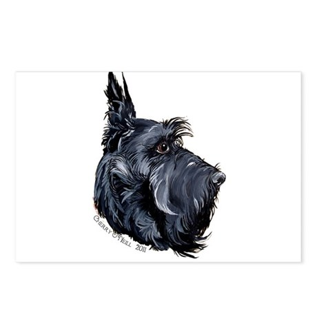 Scottish Terrier Alert! Postcards (Package of 8)