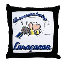 Awesome Being Curacaoan Throw Pillow