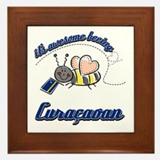 Awesome Being Curacaoan Framed Tile