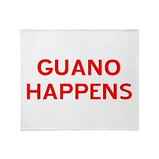 Guano Happens Throw Blanket