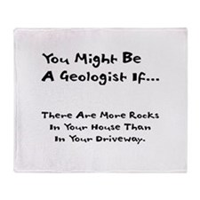 You Might Be A Geologist If.. Throw Blanket