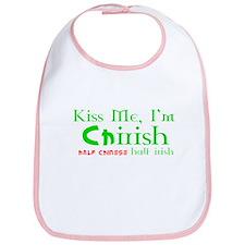 Kiss Me I'm Chirish Half Chinese/Half Irish Bib
