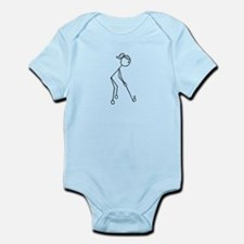 Golf Girl Black No Words Infant Bodysuit