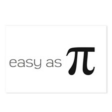 Easy as Pie (Pi) Postcards (Package of 8)