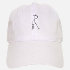 Golf Girl Black No Words Baseball Baseball Cap