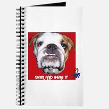 BULL DOG (CANDY CANE XMAS LOOK) Journal