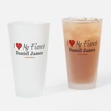 I Heart My Fiancé Pint Glass