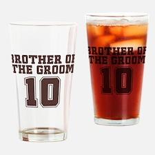 Uniform Groom Brother 10 Pint Glass
