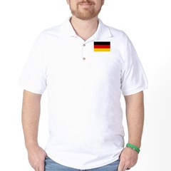 German National (Civil) Flag Golf Shirt