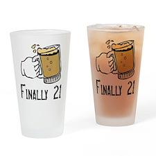 Finally 21 Pint Glass