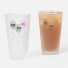 80th Birthday Balloons Pint Glass