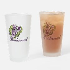 Floral Bridesmaid Pint Glass