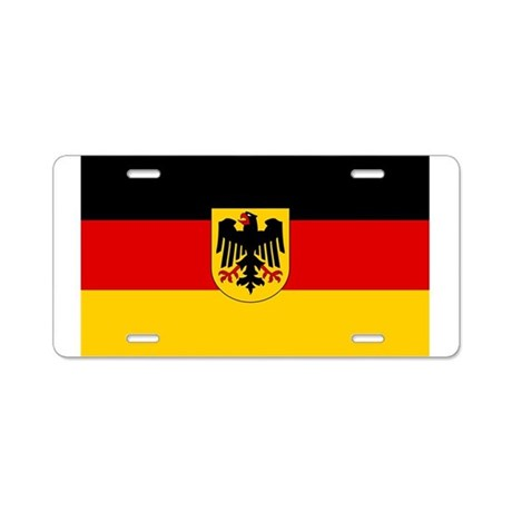 German Government Flag Aluminum License Plate