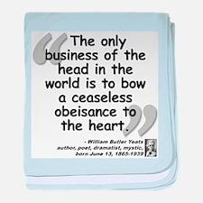 Yeats Heart Quote baby blanket