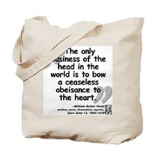 Yeats Heart Quote Tote Bag