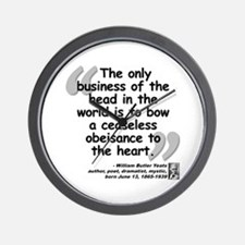 Yeats Heart Quote Wall Clock