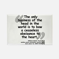 Yeats Heart Quote Rectangle Magnet